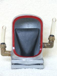 Duckbill sampler head cutaway